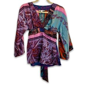Alice & Trixie Tunic XS Purple Pink Belted